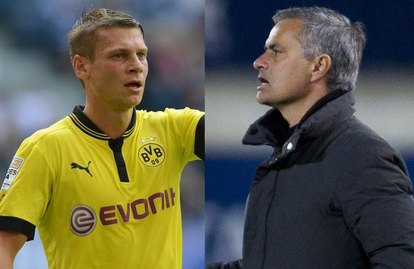 Łukasz Piszczek i Jose Mourinho /AFP