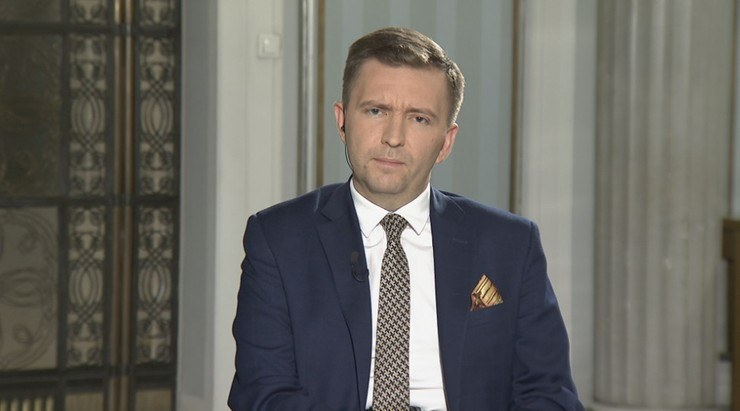 """Łukasz Schreiber gościem programu """"Gość Wydarzeń"""" /Polsat News"""