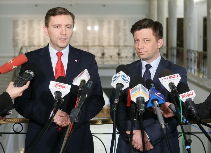 Łukasz Schreiber  i Michał Dworczyk /Paweł Supernak /PAP