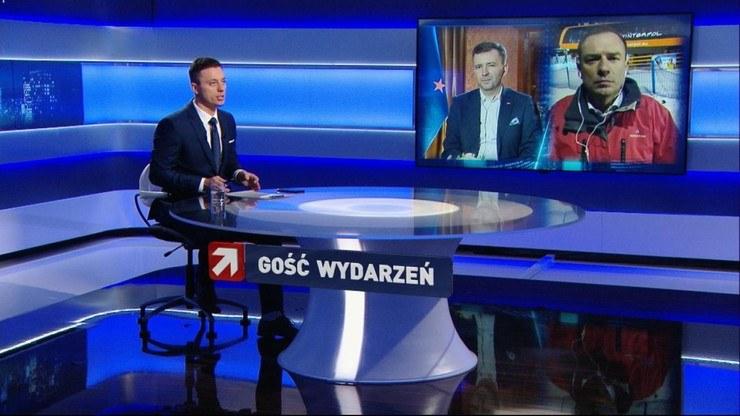 """Łukasz Schreiber i Piotr Borys gośćmi programu """"Gość Wydarzeń"""" Polsat News /Polsat News"""
