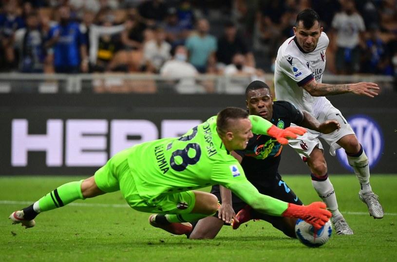 Łukasz Skorupski w meczu z Interem /AFP