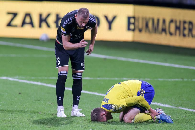 Łukasz Sołowiej (z lewej) i Artur Siemaszko /Tomasz Zasinski / 058sport.pl / NEWSPIX.PL /Newspix