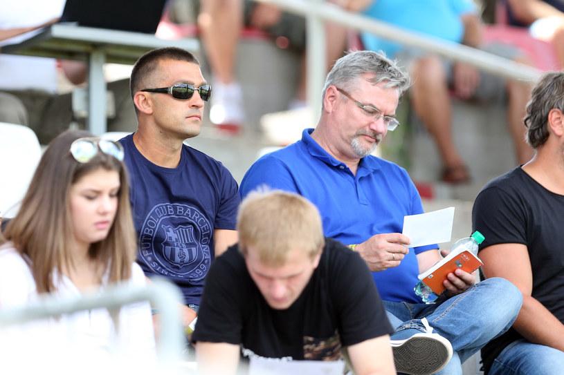 Łukasz Surma oglądał mecz Zagłębia Sosnowiec z trybun /Michał Chwieduk /Newspix