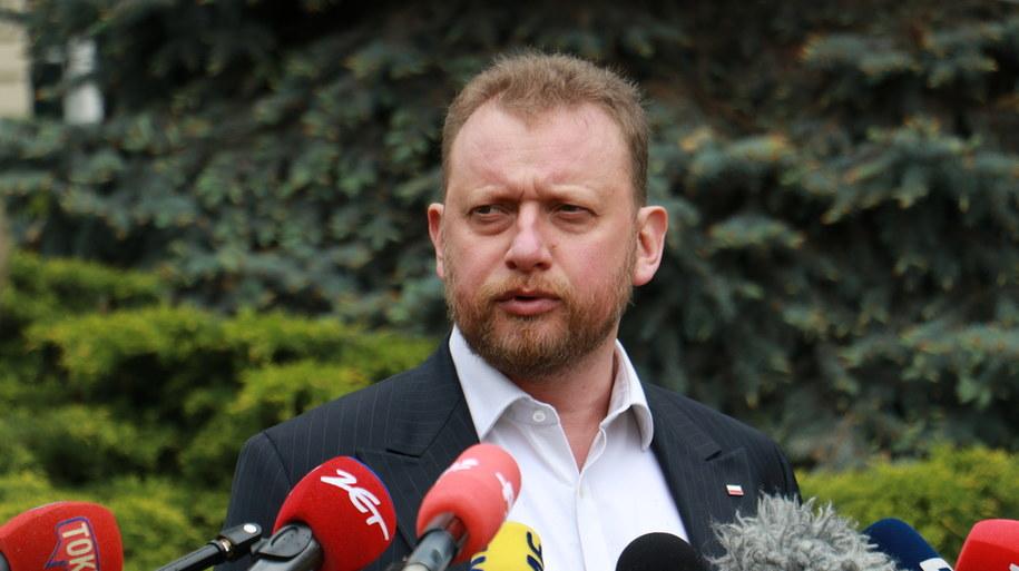 Łukasz Szumowski podczas konferencji prasowej /Jakub Rutka /RMF FM