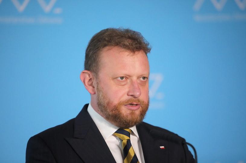 Łukasz Szumowski podczas konferencji prasowej /Wojciech Olkuśnik /PAP