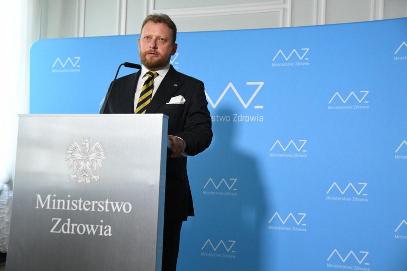 Łukasz Szumowski podczas konferencji prasowej /Jacek Dominski/REPORTER /Reporter