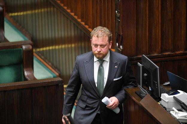Łukasz Szumowski podczas posiedzenia Sejmu / Radek Pietruszka   /PAP