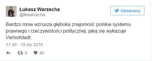 Łukasz Warzecha na Twitterze /Twitter