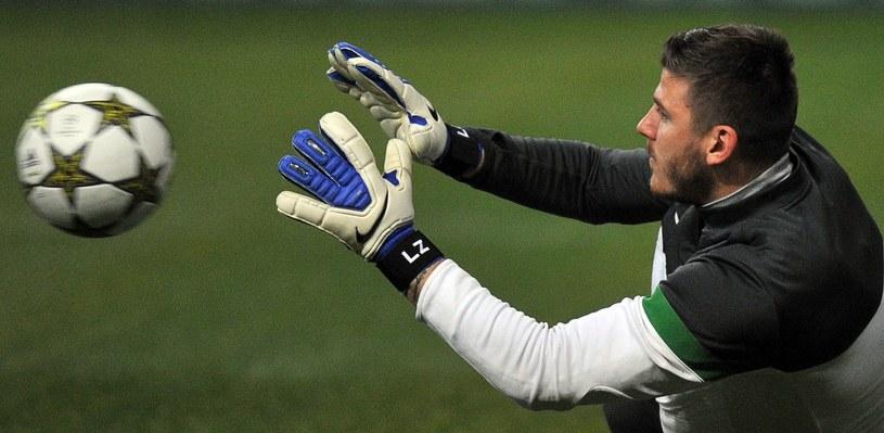 Łukasz Załuska jeszcze z czasu gry w Celticu Glasgow /AFP