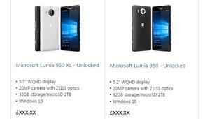 Lumia 950 XL i Lumia 950 w oficjalnym sklepie Microsoftu