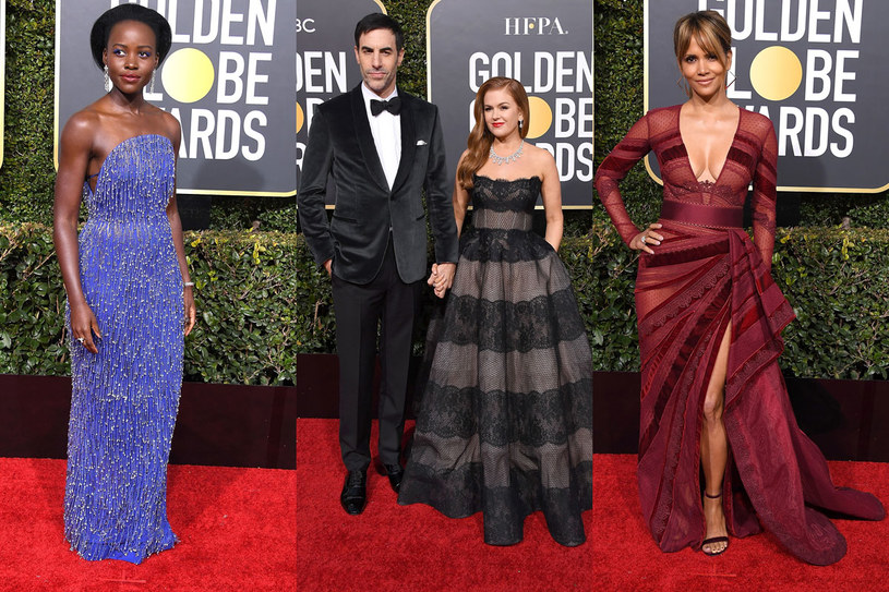 Lupita Nyong'o, Sacha Baron Cohen i Isla Fisher, Halle Berry /Getty Images