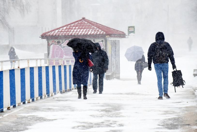 Lutowy atak zimy w Polsce /Krzysztof Radzki /East News