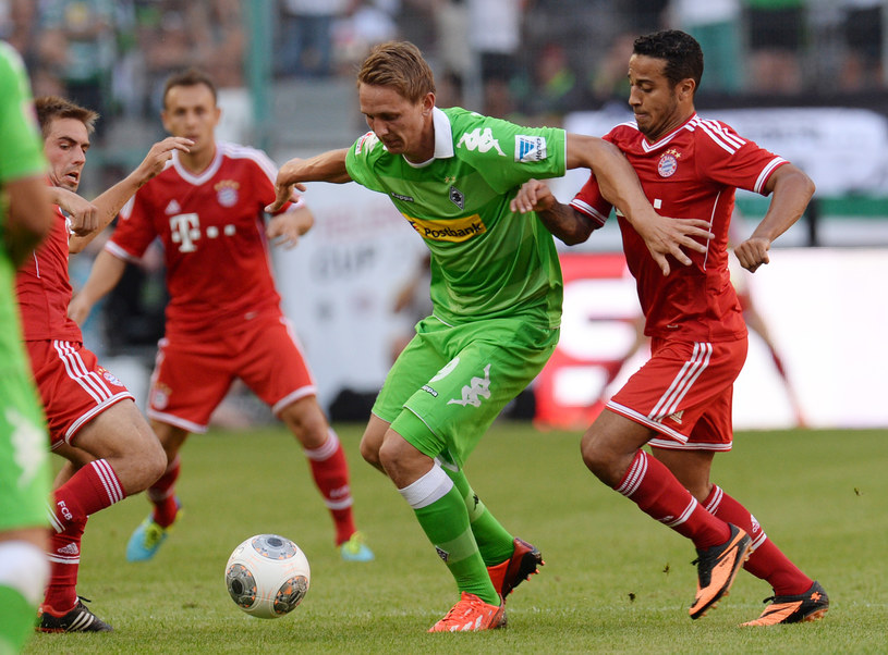 Luuk de Jong (zielony strój) /AFP
