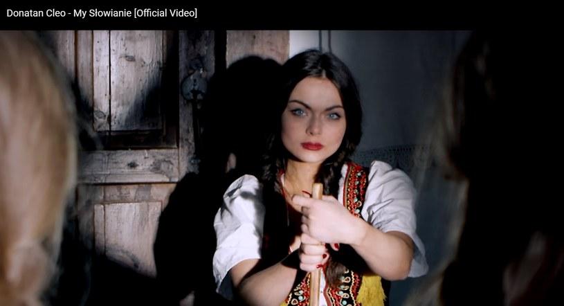"""Luxuria Astaroth w teledusku Donatana i Cleo """"My Słowianie"""" /YouTube /materiał zewnętrzny"""