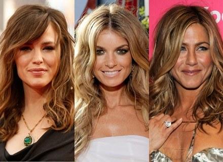 Luźne fale noszą: Jennifer Garner, Marisa Miller, Jennifer Aniston /Getty Images/Flash Press Media