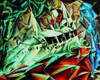 """Lyonel Feininger, Dampfer """"Odin I"""""""", 1917 /Encyklopedia Internautica"""