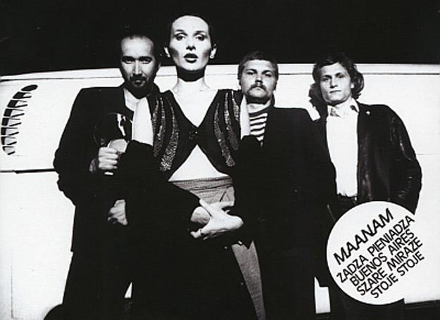 Maanam na okładce debiutanckiej płyty z 1981 r. /