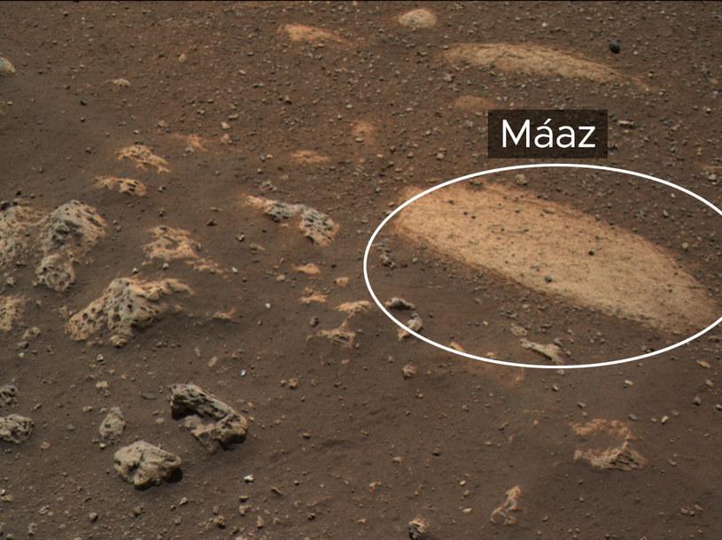 Máaz to jedna z ciekawszych skał znalezionych na Marsie /NASA