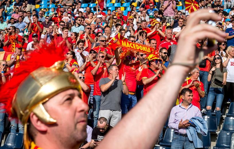 Macedońscy kibice pojawili się w Polsce w bardzo licznej grupie /Tytus Żmijewski /PAP