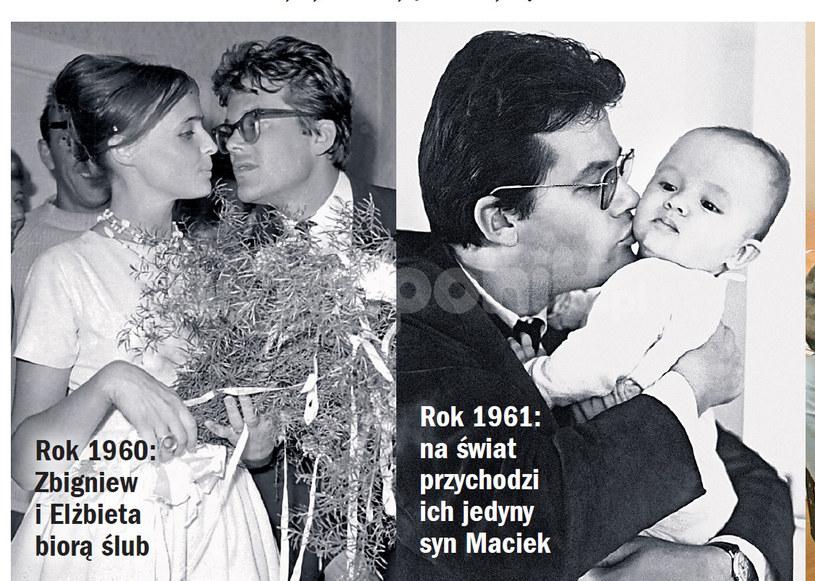 Maciej Cybylski z ojcem Zbigniewem Cybulskim /Życie na gorąco