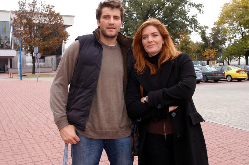 Maciej Dowbor i Katarzyna Dowbor, 2004 rok /Zawada /AKPA