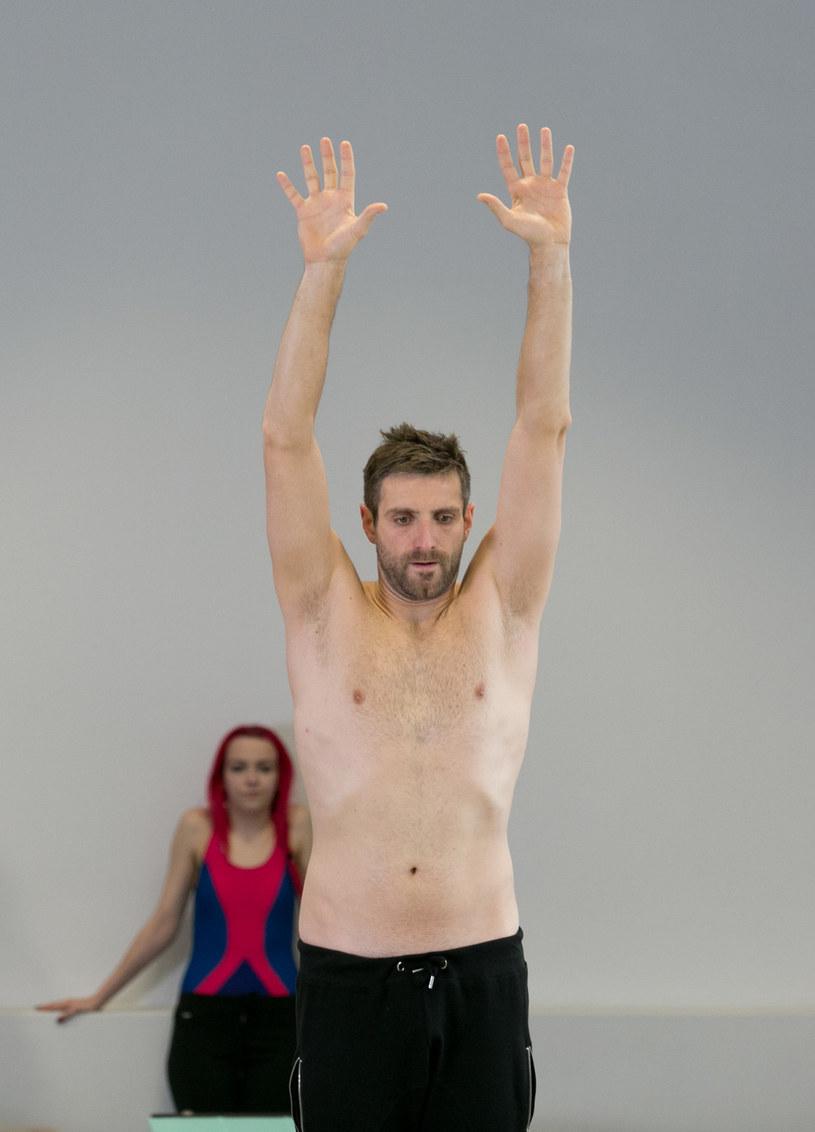 """Maciej Dowbor podczas treningów do """"Celebrity Splash"""" /AKPA"""