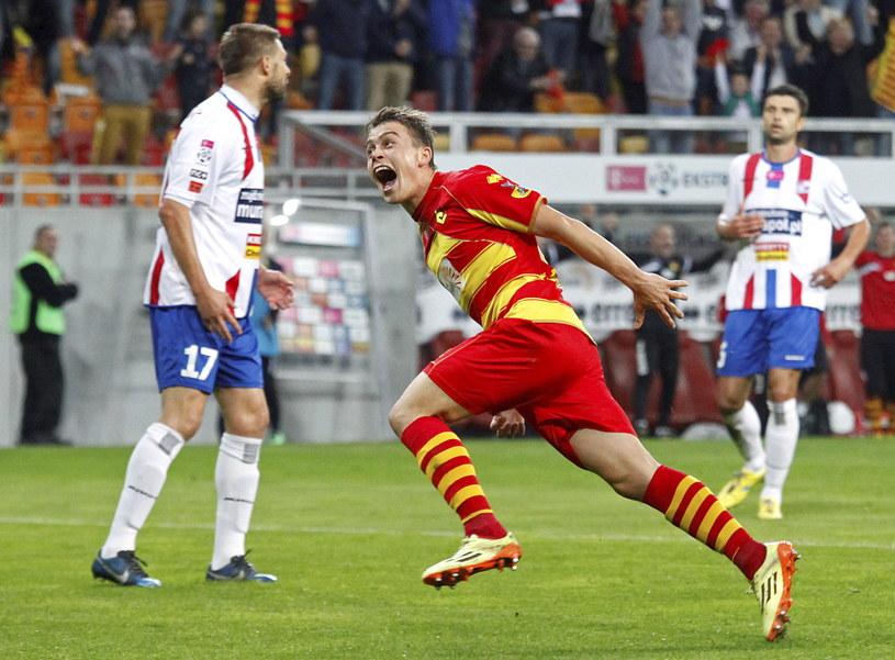 Maciej Gajos zdobył jedną z bramek dla Jagiellonii /Artur Reszko /PAP