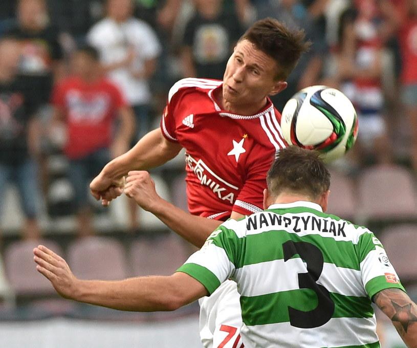 Maciej Jankowski strzelił dwa gole w meczu z Lechią /fot. Jacek Bednarczyk /PAP