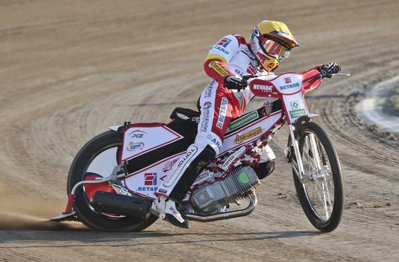 Maciej Janowski zdobył w niedzielę najwięcej punktów dla Betard Sparty Wrocław /Piotr Jędzura /Reporter