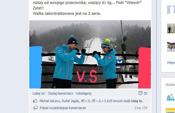 Maciej Kot kontra Piotr Żyła / Facebook.com /INTERIA.PL