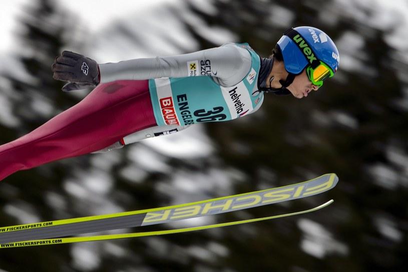Maciej Kot oddał dwa dobre, równe skoki podczas konkursu w Lahti /AFP