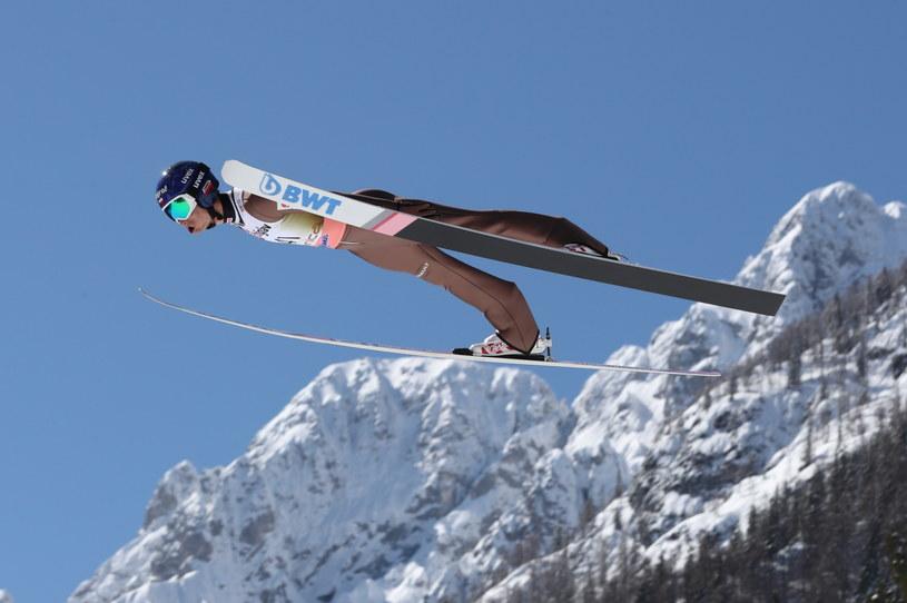 Maciej Kot podczas kwalifikacji do zawodów Pucharu Świata w skokach narciarskich na skoczni HS-240 w Planicy / Grzegorz Momot    /PAP