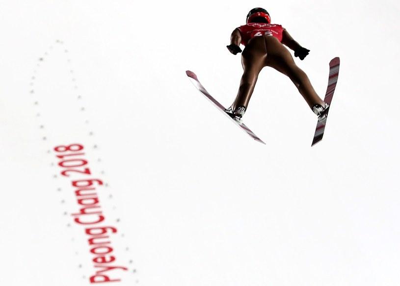 Maciej Kot podczas treningu przed indywidualnym konkursem w skokach narciarskich na dużej skoczni / Grzegorz Momot    /PAP