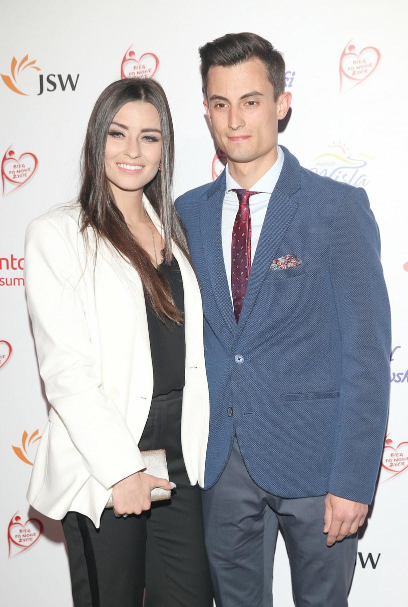 Maciej Kot z żoną /Damian Klamka /East News