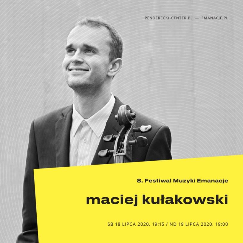 Maciej Kułakowski wystąpi podczas Festiwalu Muzyki EMANACJE /materiały prasowe
