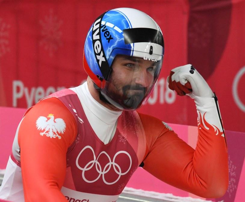 Maciej Kurowski podczas igrzysk w Pjongczangu /AFP