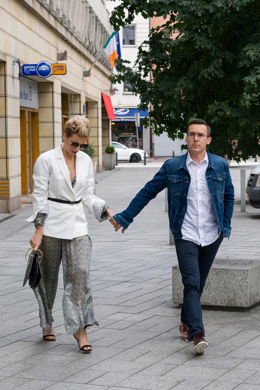 Maciej Kurzajewski z żoną Pauliną /Artur Zawadzki /Reporter