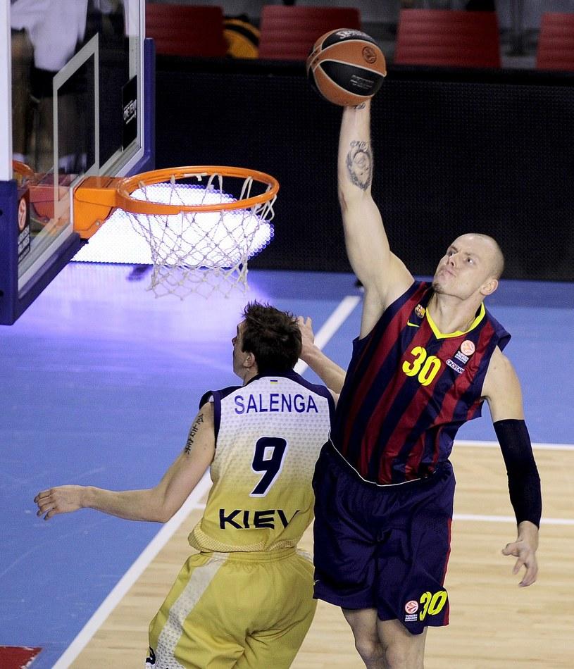 Maciej Lampe - koszykarz FC Barcelony /AFP