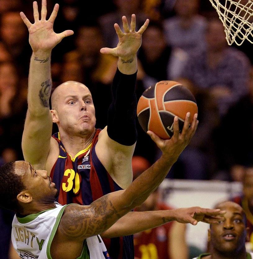 Maciej Lampe w barwach Barcelony /AFP
