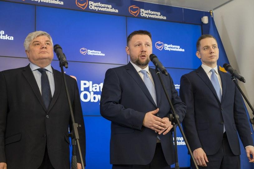 Maciej Lasek, Marcin Kierwiński, Cezary Tomczyk /Łukasz Zakrzewski /Reporter