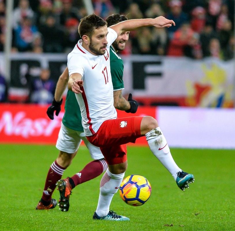 Maciej Makuszewski w koszulce reprezentacji Polski /Przemek Świderski /East News