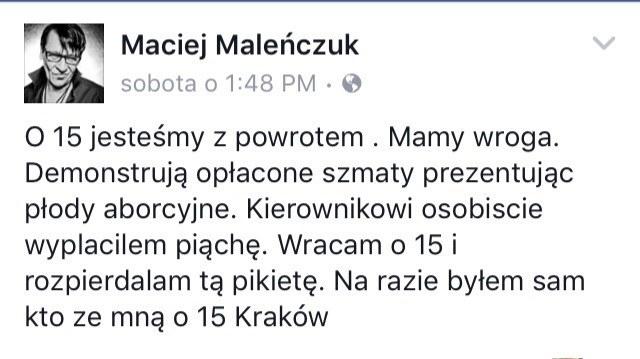 Maciej Maleńczuk na Facebooku /oficjalna strona wykonawcy