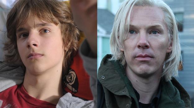 Maciej Musiał jako Janek Mela i Benedict Cumberbatch w roli Juliana Assange'a /materiały prasowe