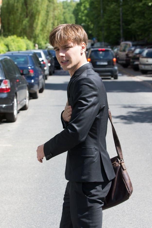 Maciej Musiał przed egzaminem maturalnym /Foto IP