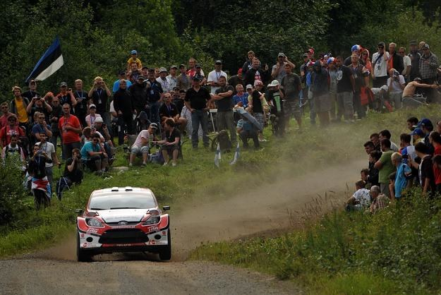 Maciej Oleksowicz (Ford Fiesta S2000)  na trasie Rajdu Finlandii /