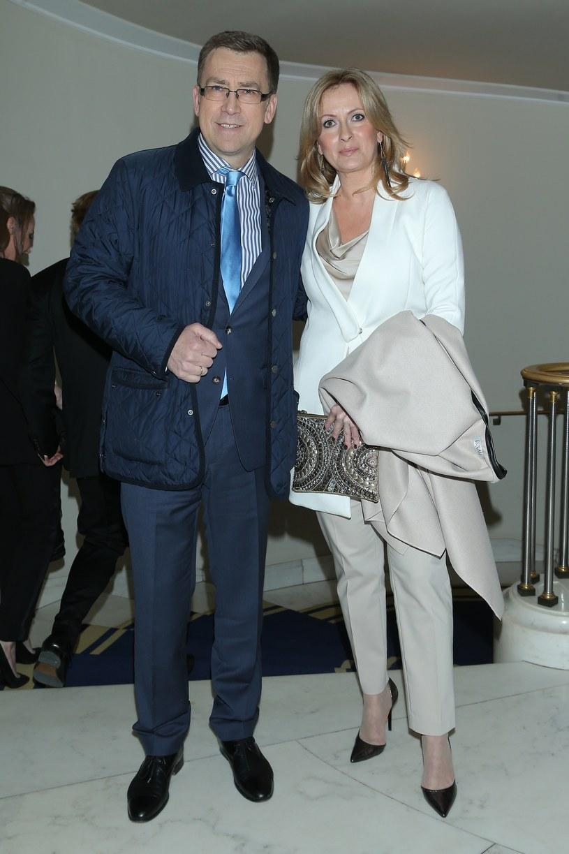 Maciej Orłoś z żoną Joanną /- /MWMedia