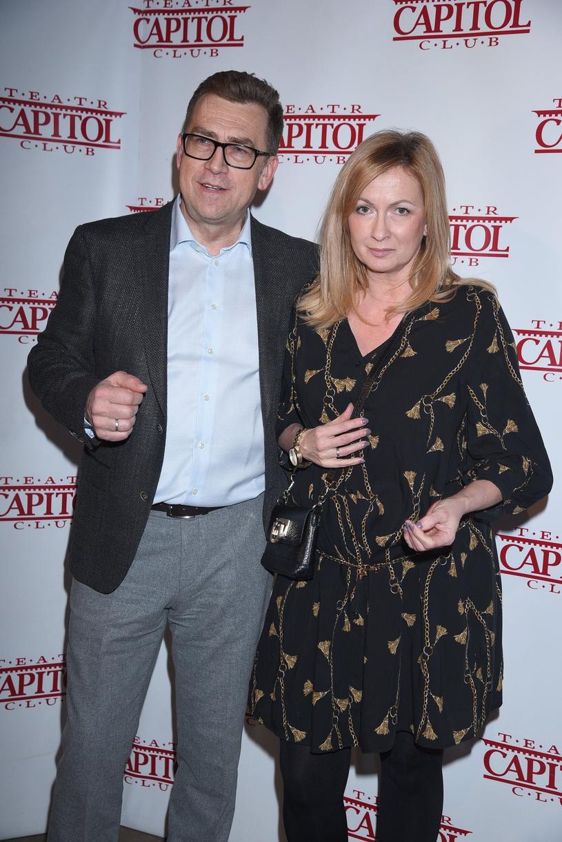 Maciej Orłoś z żoną Joanną /Tricolors /East News