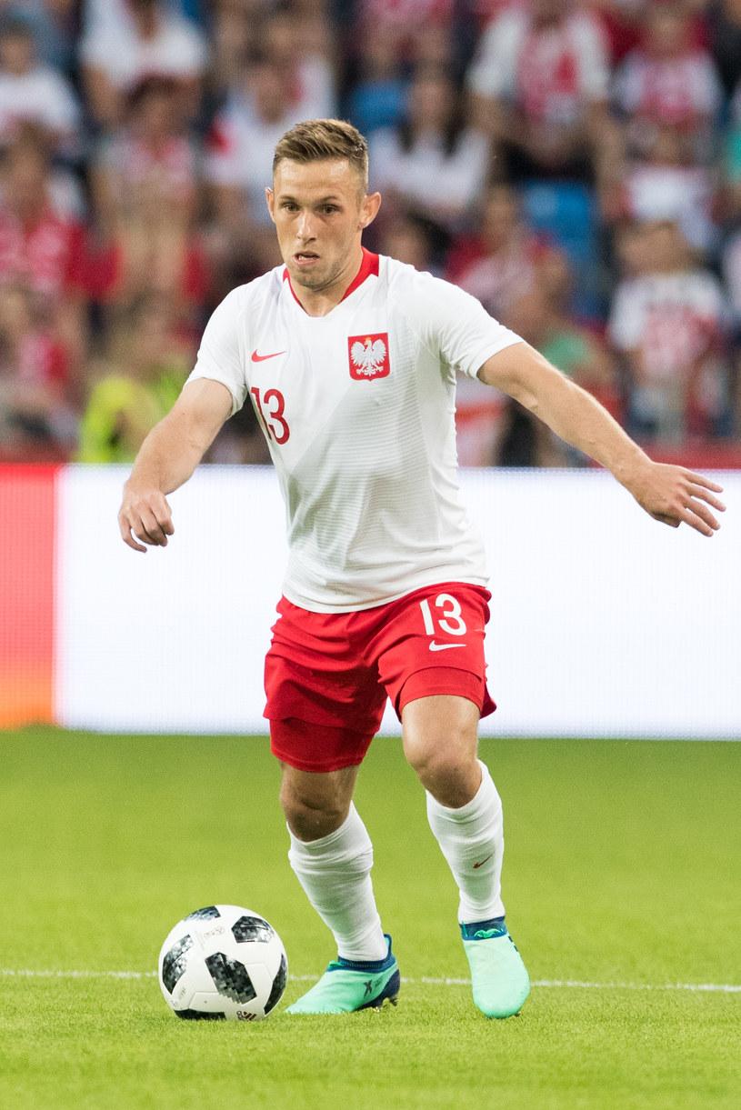 Maciej Rybus podczas meczu reprezentacji Polski /fot. Andrzej Iwanczuk /AFP