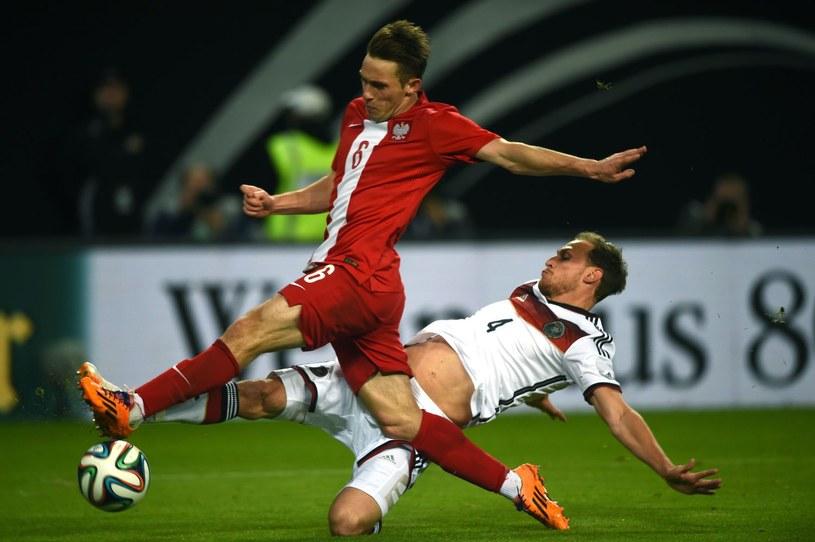 Maciej Rybus podczas niedawnego towarzyskiego meczu Polski z Niemcami /AFP