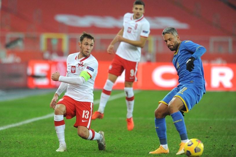 Maciej Rybus w towarzyskim meczu z Ukrainą /AFP